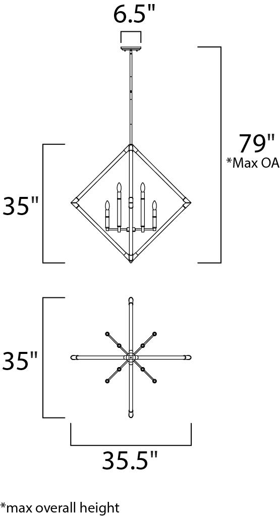 Lucent 8 Light Pendant